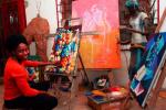 La Brazzavilloise Rhode Makoumbou défend ses repères culturels et sociaux à travers l'art